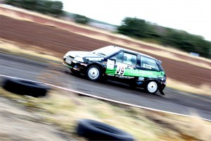 Ally Currie in the Citroen AX